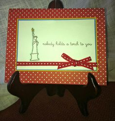 Statue of Liberty birthday card by lindsaynspencer on Etsy, $3.25