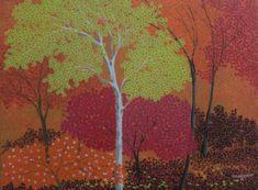 Morning 1 Painting by artist Shuvankar Maitra Indian Paintings, Nature Paintings, Landscape Paintings, Indian Contemporary Art, Modern Art, Canvas Art, Canvas Prints, Online Painting, Indian Art