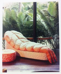 Mick Jagger's shrimp sushi sofa