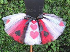Queen of Hearts Tutu Red Black White Tutu w/ Hearts A by TutuTiara