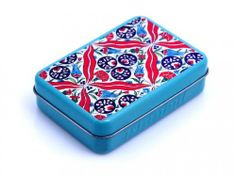Handmade Natural Pure Olive Oil Soap in Tin Box with Tulip and Carnation Turkish Tile