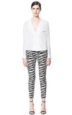 Olive Zebra Stripe Pants