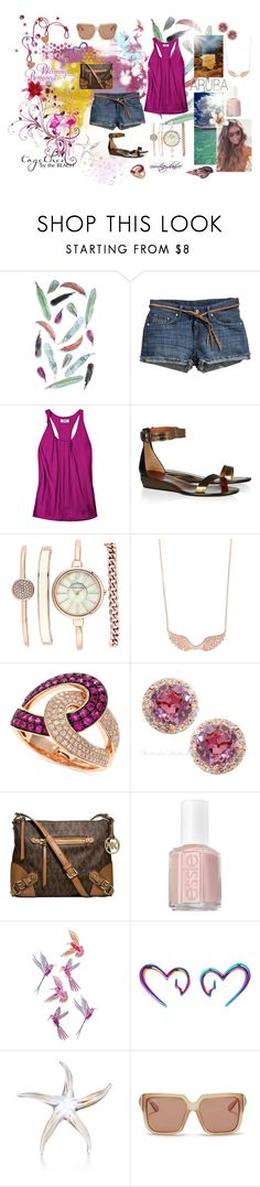 """""""Blooming Romance: Aruba Vacation"""" by courtneydanice ❤ liked on Polyvore featuring Dot & Bo, H&M, Acne Studios, Lanvin, Anne Klein, Anita Ko, Effy Jewelry, Michael Kors, Essie and Hot Topic"""