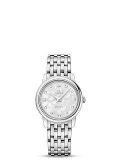 Zegarek Omega De Ville Prestige Quartz 27,4 mm 42410276052001 (424.10.27.60.52.001) - Omega - Zegarki Omega - Jubiler W. Śliwiński - brylanty, pierścionki, obrączki, zegarki, biżuteria
