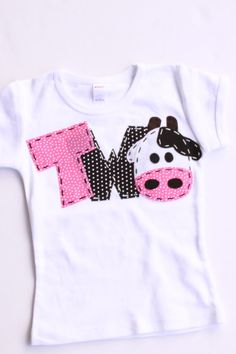 2 barnyard birthday shirt, two, cow, 2nd, girl t shirt, barn yard, farm theme, white on Etsy, $24.99