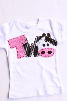 2 barnyard birthday shirt, two, cow, 2nd, girl  t shirt, barn yard, farm theme, white on Etsy, $24.99