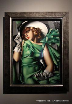 La ragazza in verde, 1927-1930 Tamara de Lempicka in mostra a Palazzo Chiablese #Torino #oalazzochiablese