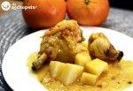 Receta de pollo a la naranja Pollo Guisado, Spanish Cuisine, Top Recipes, Banquet, Poultry, Risotto, Chicken, Meat, Ethnic Recipes