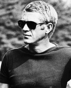 8e62648407 Steve McQueen with his trendsetting Persol glasses. Steve McQueen - The  King of Cool The iconic Persol sunglasses.