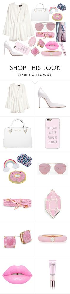 """""""Sin título #3371"""" by onedirection-h1n1l2z1 on Polyvore featuring Belleza, H&M, Gianvito Rossi, Michael Kors, Casetify, Boohoo, Big Bud Press, Kate Spade, Adolfo Courrier y Estée Lauder"""