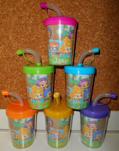 Bubble Guppies Personalized Birthday Party Favor Cups by KidsCups