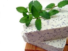 Peppermint Soap Bar, 5 oz, Exfoliating, All Natural, Vegan, with Kokum Butter and Kaolin Clay - Thundersnow. $7.50, via Etsy.