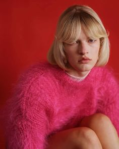 """Premier Model Management on Instagram: """"✨ Pretty in pink - #Segolene @cegosep ✨🌷 Photographer @santiagofrancoschicke Styling @santiagofrancoschicke Hair @kojimahiroki Makeup…"""" High Fashion, Womens Fashion, Sweater Weather, Pretty In Pink, Disney Princess, Makeup, Model, Sweaters, Hair"""