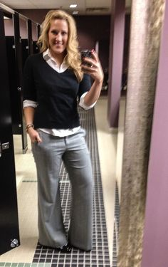 Business Casual Work Outfit #43.....this is more Business Professional but none the less I love my outfit, especially my BCBG pants.....felt like I was wearing sweat pants ;)