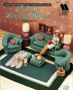 Classic Living Room Volume I  Barbie Crochet Furniture Pattern Annies Attic 525B