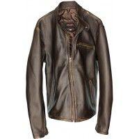 R79 Leather Jacket Lambskin Distressed Brown Vintage Fit