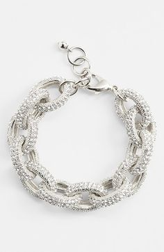 Allover embossing and pavé-set inlays lend continuous glimmer to an adjustable link bracelet. $68.00 on @Keaton Row website, arranged with full of fashion... click to see it in action.