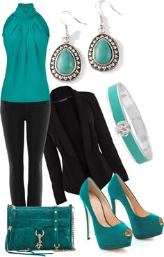 I love teal and black!