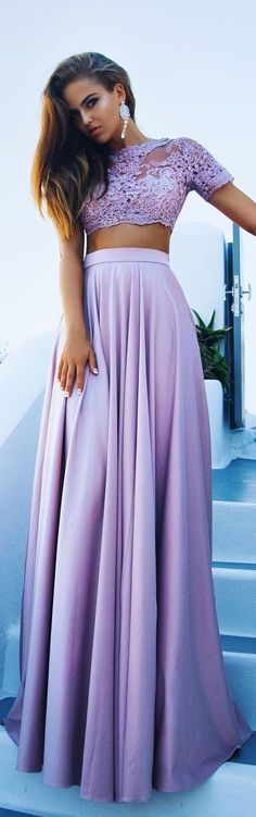 The Color Purple // Top & Skirt by Dulcis Shop // Fashion Look by Kristina Krayt