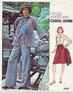 Vintage 1970s Vogue Americana Pattern 2953 Carol by CloesCloset, $26.00
