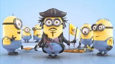 40 Eye-Popping Mashups of Minions | ForeverGeek Pirate Minion, Minion Mayhem, Cute Minions, Minions Despicable Me, Funny Minion, Minions Movie Characters, Fictional Characters, The Lone Ranger, Minion Party