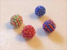 Beaded Ball Tutorial – Nepali – Keep up with the times. Bead Jewellery, Seed Bead Jewelry, Seed Beads, Beaded Jewelry, Beaded Bracelets, Beaded Bead, Jewelery, Beading Projects, Beading Tutorials