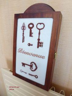 Boîte à clés - milpoints par Annick