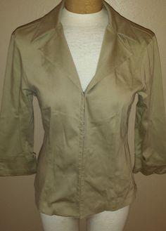 Cache Tan Fitted Blazer Womens Sz 10 Hook & Eye Closure Jacket  #Cache #BlazerJacket http://stores.ebay.com/Castys-Collectibles?_dmd=2&_nkw=womens+jacket