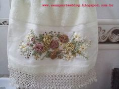 Resultado de imagem para toalhas bordadas