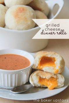grilled cheese dinner rolls - The Baker Upstairs