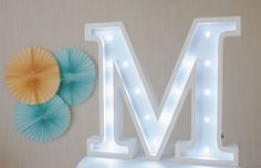 Gift for mother Mothers gift Letter lights Marquee letters Nursery light Wooden letters Night light Kids lamp Nursery decor Baby shower Lamp