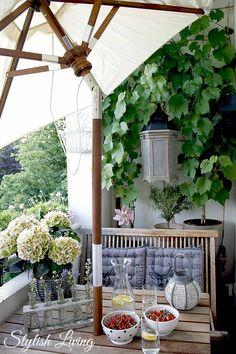 kleiner gemütlicher Balkon