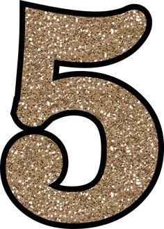 Glitter Without The Mess! Free Digital Printable Glitter Numbers 0 - 9: Glitter Number 5 To Print Free Printable Numbers, Printable Letters, Free Printables, Unicorn Party, Unicorn Birthday, Handmade Card Making, Paper Banners, Glitter Letters, Birthday Numbers