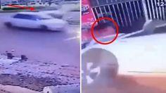 Überwachungskamera filmt: Dieser Crash wird dich schocken