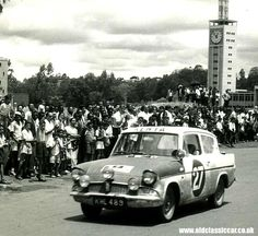 The Safari rallies were renowned as car breakers, dust plus mud that dries to a… Classic Cars British, Old Classic Cars, Sport Cars, Race Cars, Motor Sport, Ford Motor Company, Ford Mustang, Ford Anglia, London Bus