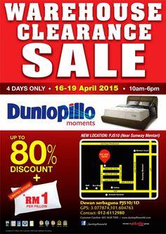 16-19 Apr 2015: Dunlopillo Warehouse Sale for Mattress & Bedframes Clearance