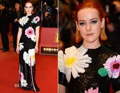 Jena Malone In Thom Browne – 'Nobody Wants the Night' Berlin Film Festival Premiere