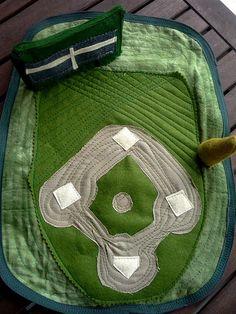 baseball diamond play mat