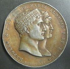 MEDAILLE EMPEREUR NAPOLEON Ier MARIAGE AVEC MARIE-LOUISE D'AUTRICHE 1810 - Etain