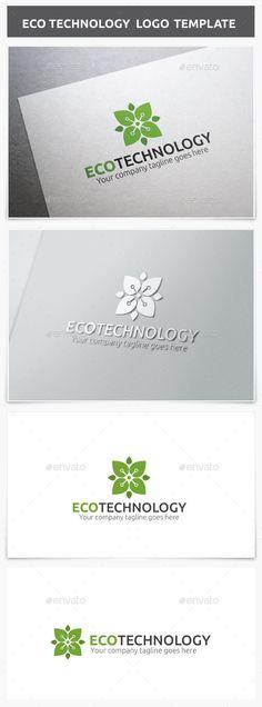 Eco Technology - Logo Design Template Vector #logotype Download it here: http://graphicriver.net/item/eco-technology-logo/8927559?s_rank=1780?ref=nesto