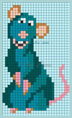Ratatouille Perler Bead Pattern