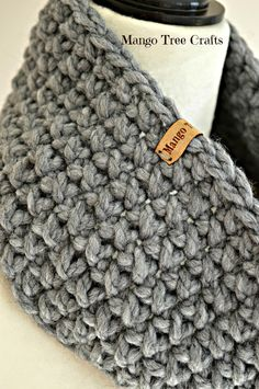 Quick and easy to make crochet cowl. Beautiful texture and very squishy.