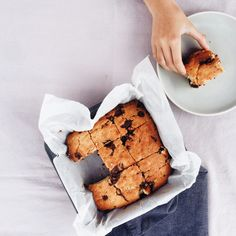 Choc Chip Blondies THM use plan approved sweetener