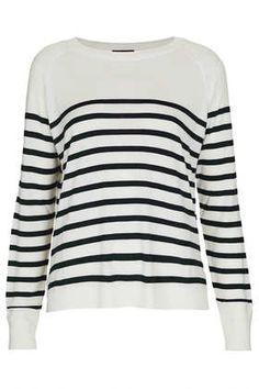 Topshop's Knitted Breton Stripe top