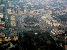 Viewed on climbout the inverted 'U' is Lahore's popular Liberty Market. Lahore 2