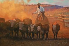 My dad was a Texas cowboy and a rodeo bull & bronc rider. Cowboy Artwork, Western Horseman, Southwest Art, Equine Art, Mountain Man, Western Art, Horse Art, Native American Art, Animal Paintings