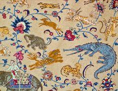 Indian fabric -  fantastical beasts