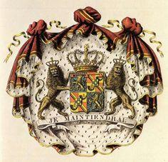 Wapen van Willem, kleinzoon van Koning Willem II, zoon van Koning Willem III. 1840-1849.