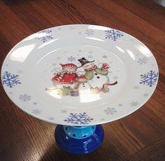 Snowman Cake Plate