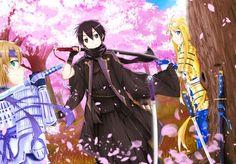 Eugeo, Kirito and Alice   Sword Art Online (SAO) Alicization-Underworld